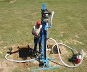 Small water well drill