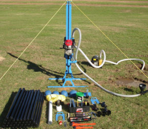how to make a water well drilling machine