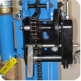 Small water well drill winch