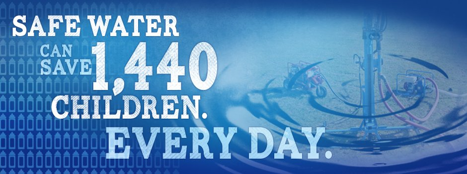 Safe water can save 1440 children every day